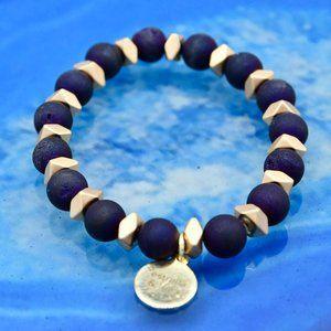 🆕 OOAK Purple Druzy Agate Stackable Bracelet